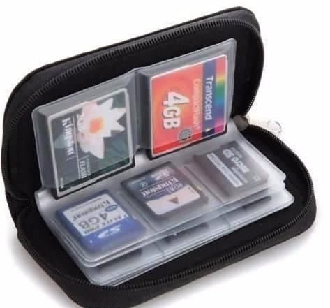 bolsa capa porta cartão memória