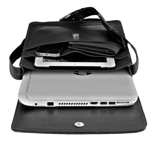 bolsa capanga masculina couro legitimo notebook tamanho g