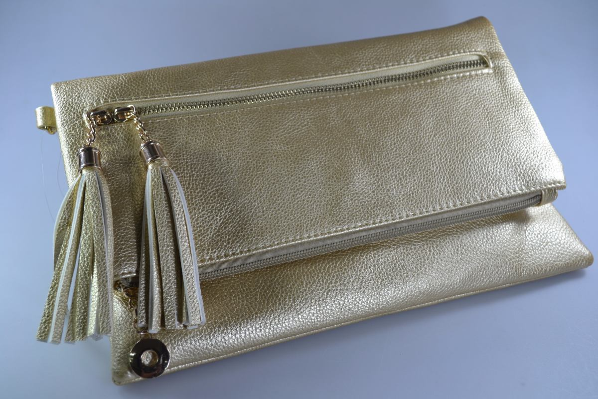 50ce00c405 bolsa carteira clutch feminina festa social franjas dourada. Carregando zoom .