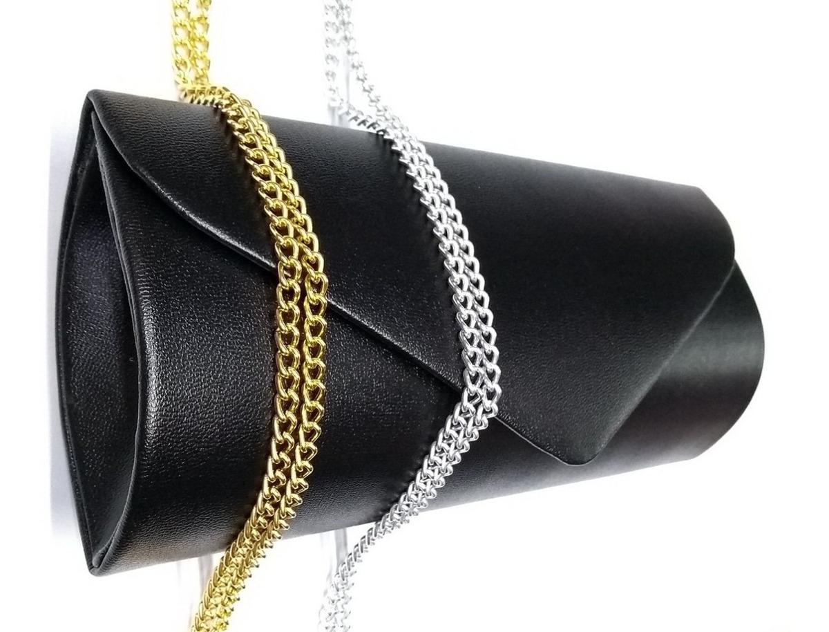 bbcb6b32ce Bolsa Carteira Clutch Festa Bolsinha Casamento Preta Luxo Bc - R$ 55 ...