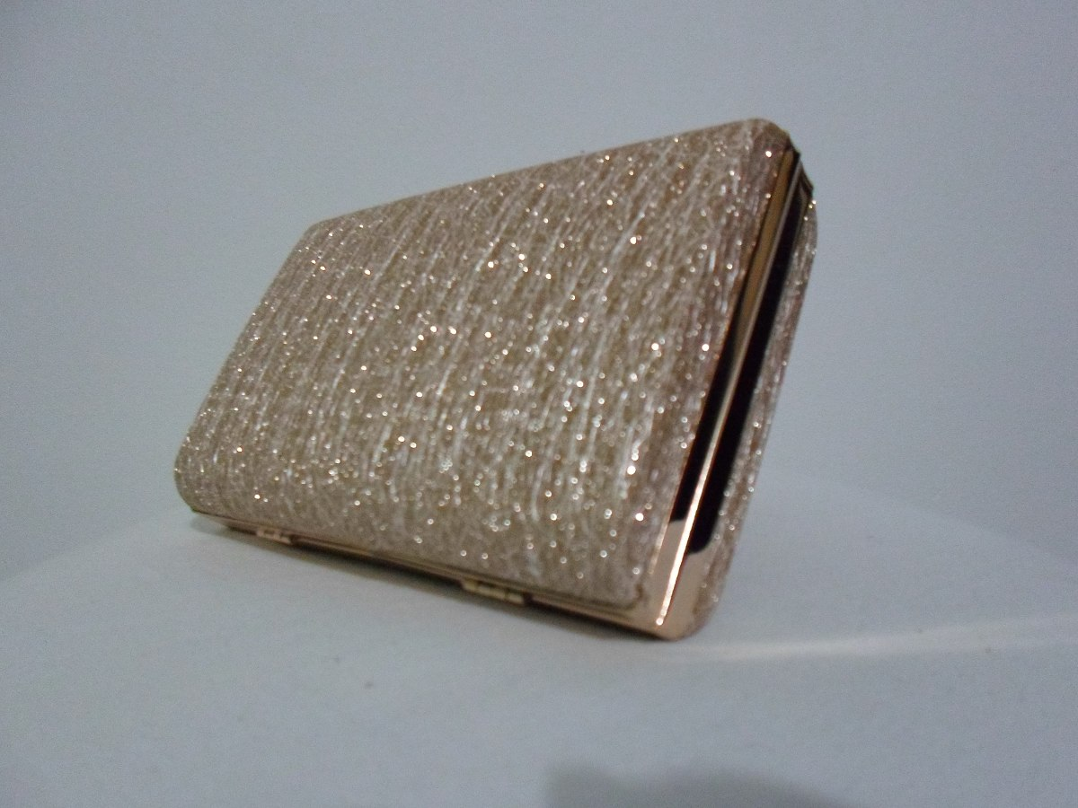 Bolsa De Mão Para Festa Dourada : Bolsa carteira de m?o clutch festa casamento dourada e