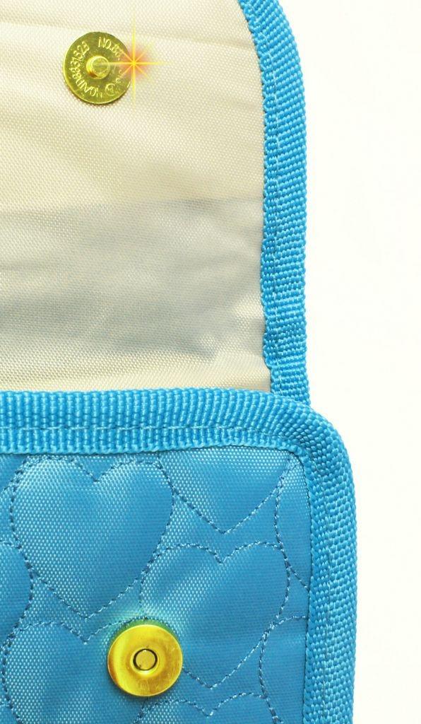 766ed630a bolsa carteira de mão festa capricho love azul divisória. Carregando zoom.