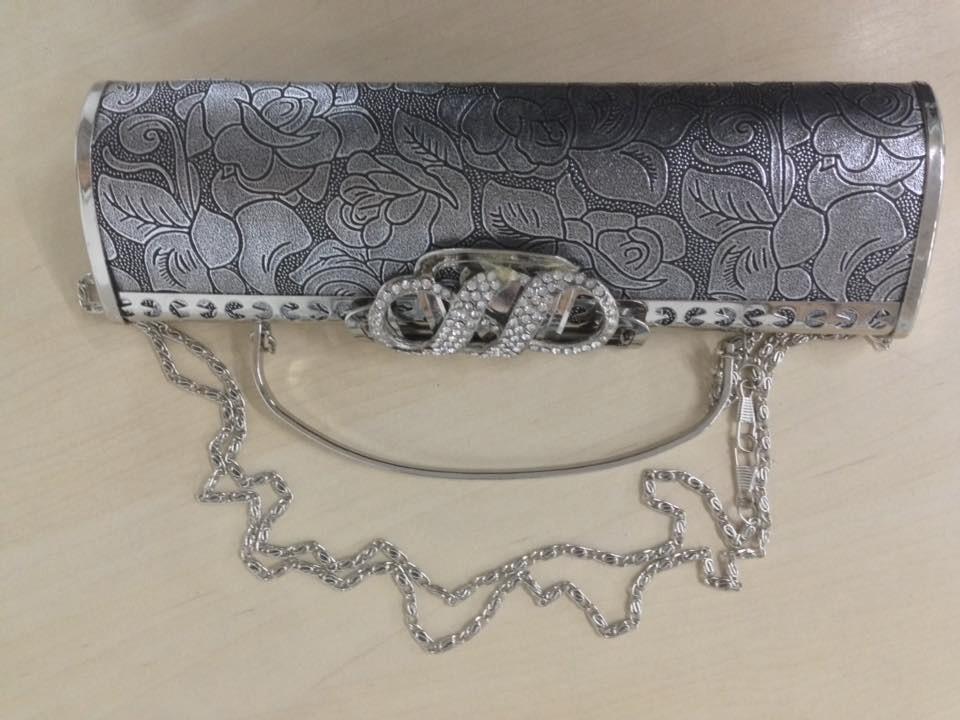 Bolsa De Festas Prata : Bolsa carteira para festa casamento prata ou dourada r