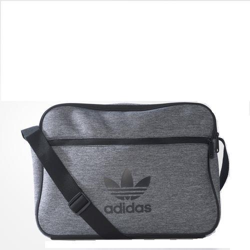 53f52c634 Bolsa carteiro adidas airliner de malha cinza em mercado livre jpg 500x500  Adidas feminino bolsa carteiro