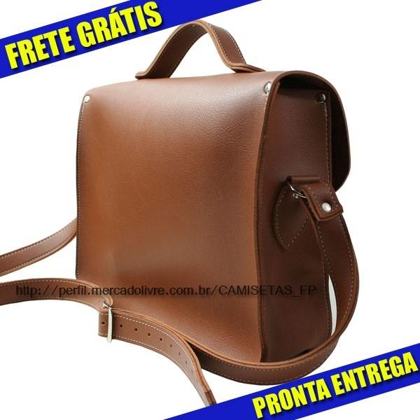 749c934ec Bolsa Carteiro Croisfelt Satchel 13'' Marrom Moda - R$ 170,00 em ...
