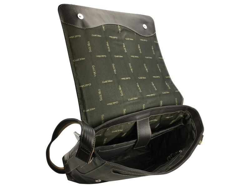 4fd2235ad3 bolsa carteiro e tiracolo para notebook em couro goldman. Carregando zoom.