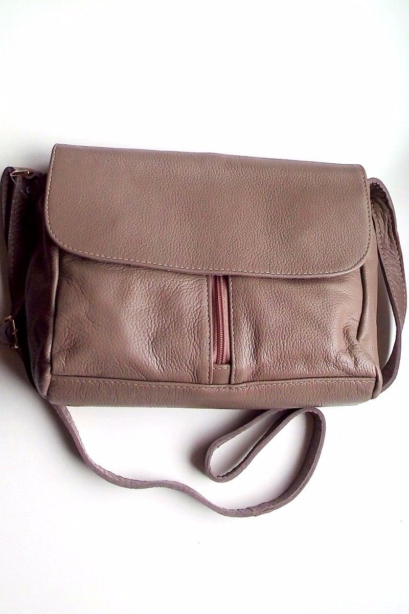 07f59b2c5 bolsa carteiro feminina transversal de couro legítimo, nude. Carregando zoom .