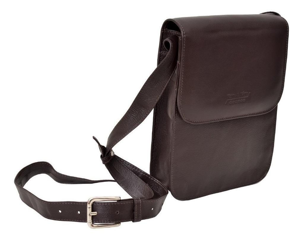 b8e58974a7 bolsa carteiro masculina couro 100% legitimo genuino - tam m. Carregando  zoom.