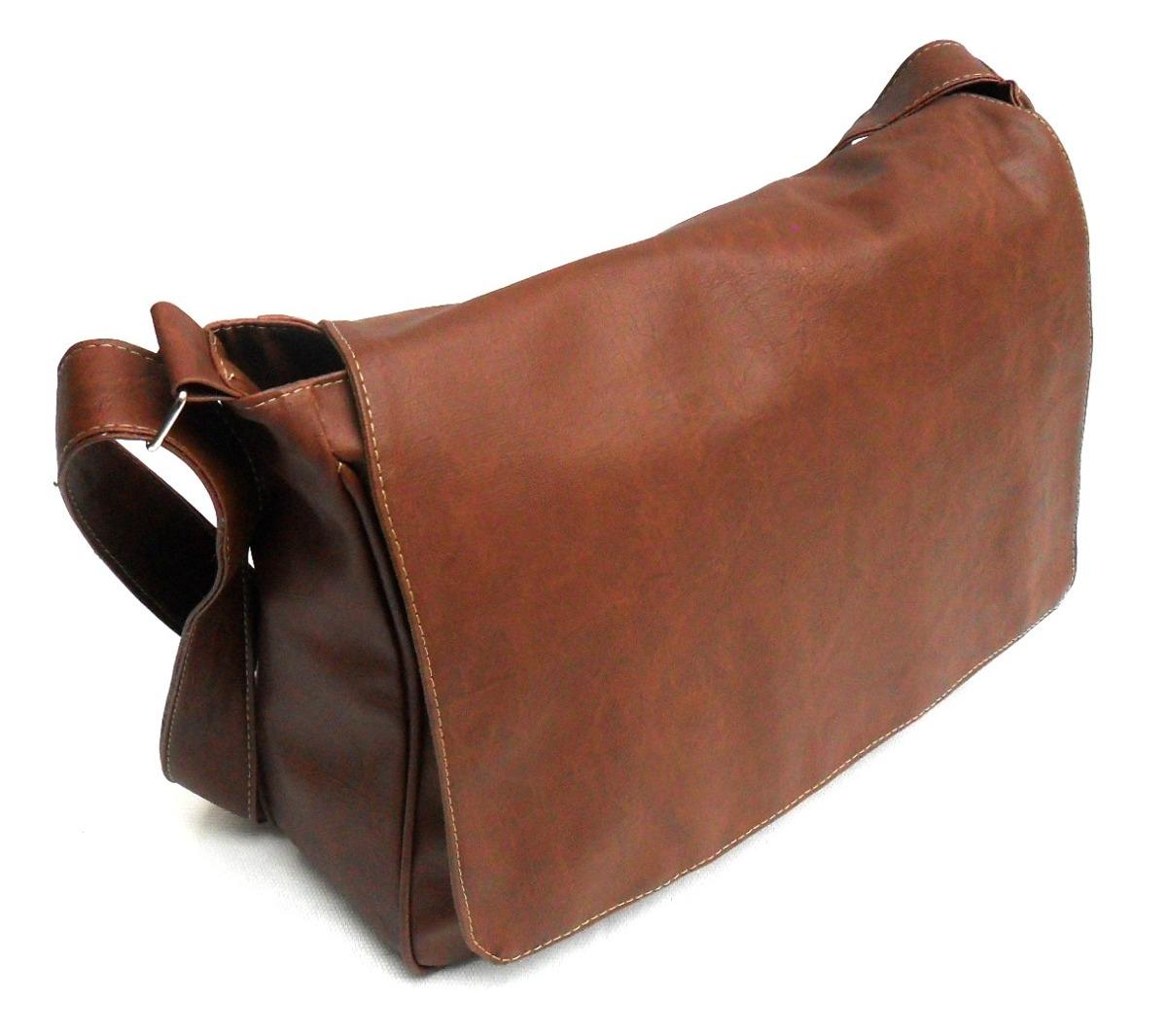 Bolsa De Couro Masculina Mercado Livre : Bolsa carteiro masculina couro sint?tico caramelo
