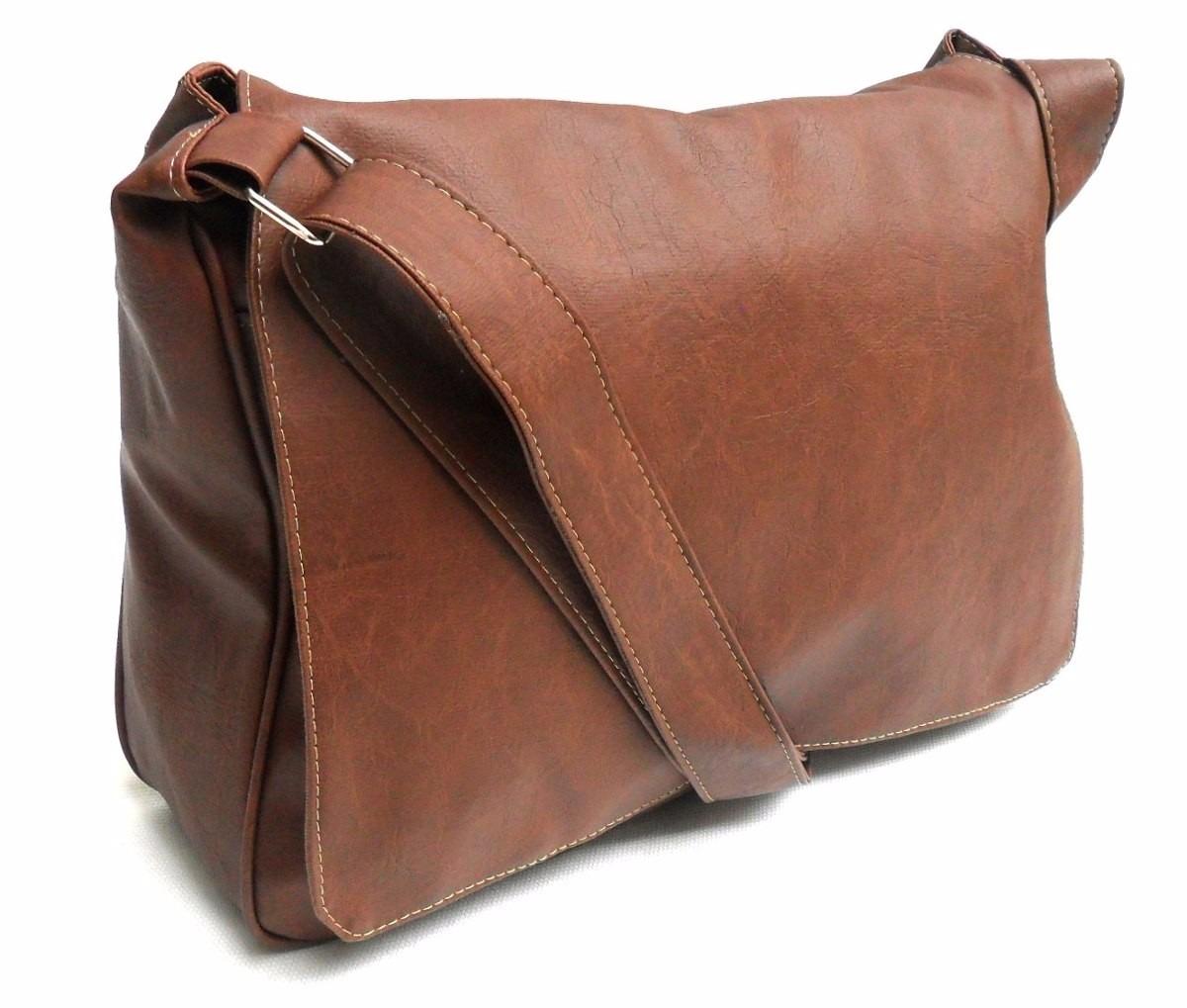 Bolsa Estilo Carteiro Feminina Mercado Livre : Bolsa carteiro masculina couro sint?tico marrom tiracolo