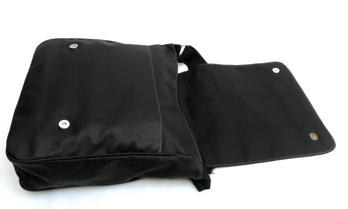 Bolsa De Couro Masculina Mercado Livre : Bolsa carteiro masculina couro sint?tico preto g black