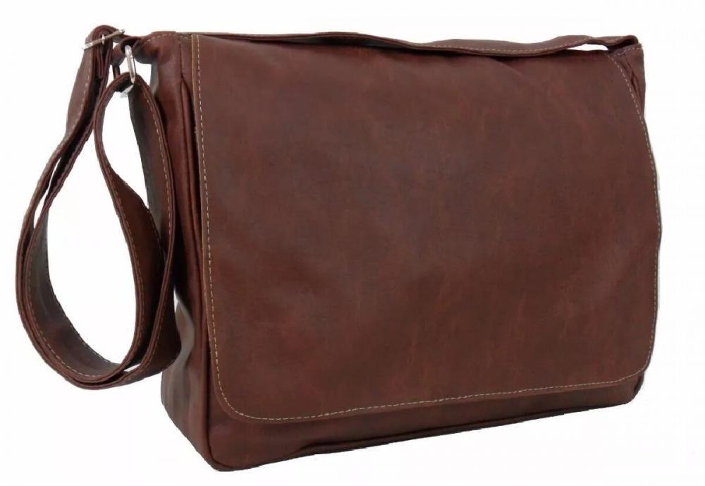 Bolsa De Couro Masculina Mercado Livre : Bolsa carteiro masculina de couro marrom r em