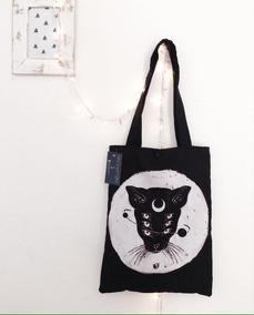94f73d36964 Bolsa Cartera Moon Cat Occult Witch Craft Usagi Luna Gato