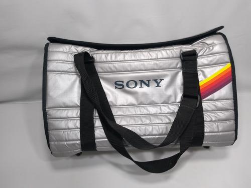 bolsa case equipamentos fotográfico / vídeo sony anos 80