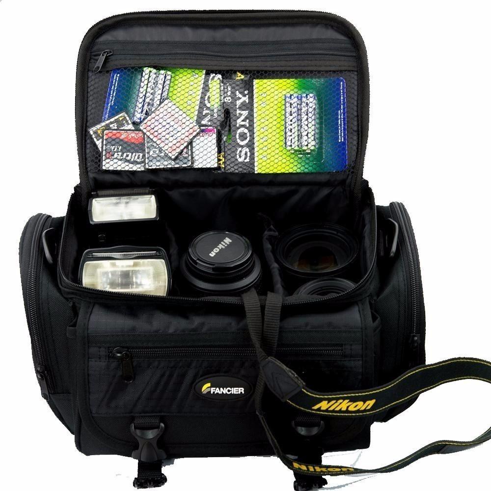 5b2e52abf bolsa case para câmera fotográfica dslr canon nikon sony etc. Carregando  zoom.