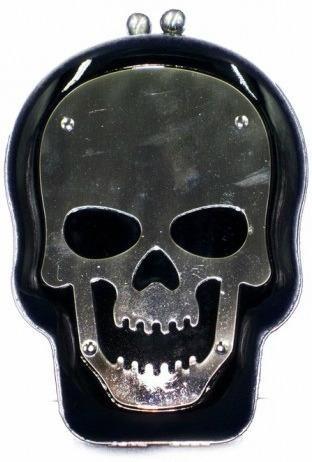 bolsa caveira clutch acrílico tribo do rock frete grátis