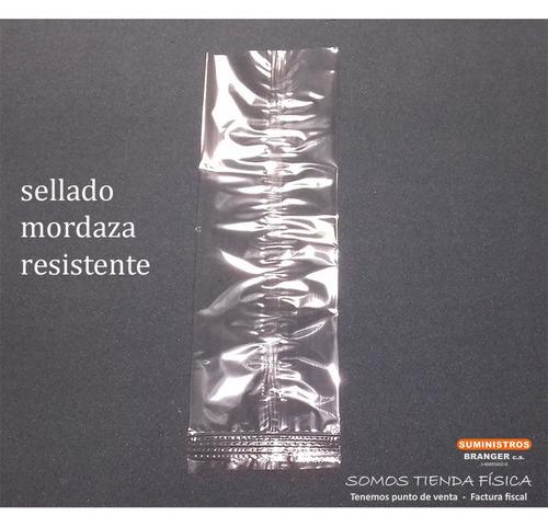 bolsa celofán con mordaza transparente 6x10 cm paquete 100