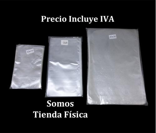 bolsa celofán transparente 8x25 cm paq 100 bolsas tienda