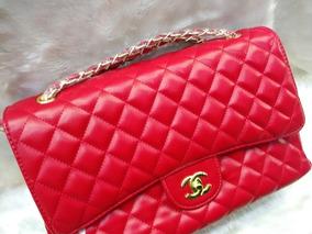 b7eaa5529 Bolsa Chanel Jumbo Vermelha - Bolsas de Couro Sintético Com fecho em ...