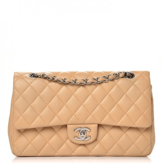 22246b04f Bolsa Chanel 2.55 Classic Caviar Bege Couro C/ Código - Top - R ...