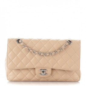 e0d2bdd9e Bolsa Chanel 2.55 Couro Legitimo, Classic Flap Preta E Nude - Bolsas ...
