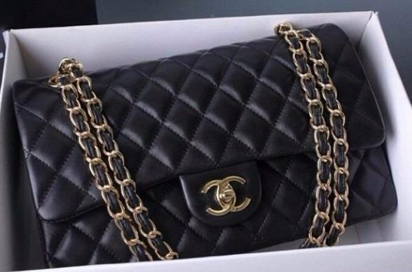 cd48c8866 Bolsa Chanel 2.55 Classic Flap Couro Lambskin Frete Gratis - R ...