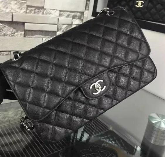 dba4be8c5 Bolsa Chanel 2.55 Classic Flap Jumbo 30 Cm Couro Caviar - R$ 1.599 ...