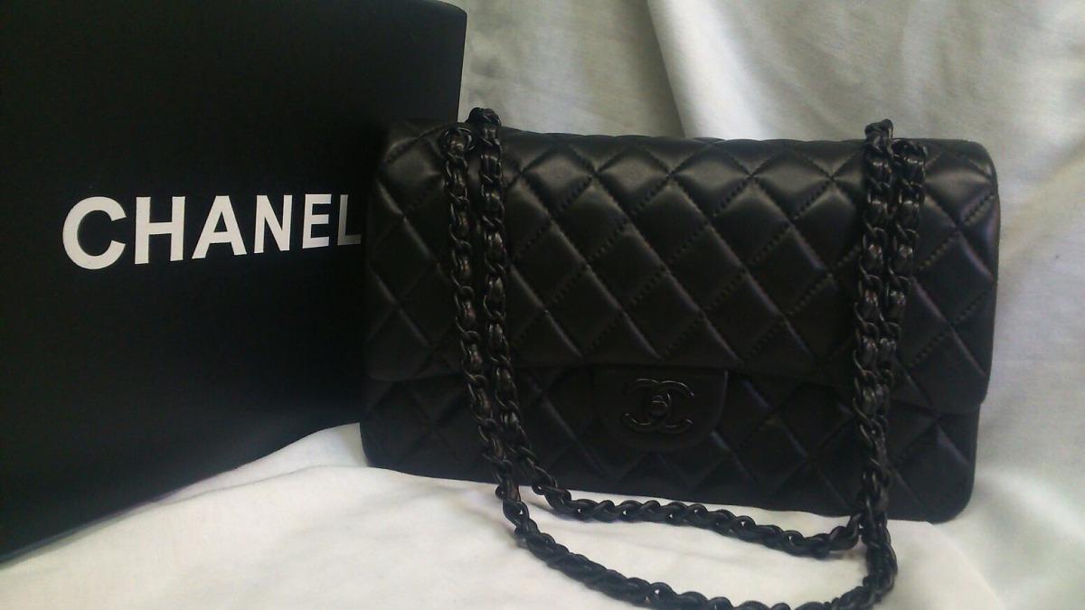 f74021233 Bolsa Chanel 2.55 Couro Legítimo Black - R$ 1.199,00 em Mercado Livre
