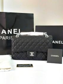 2d0319471 Bolsa Chanel 2.55 Média Couro Caviar Caixa Autenticidade