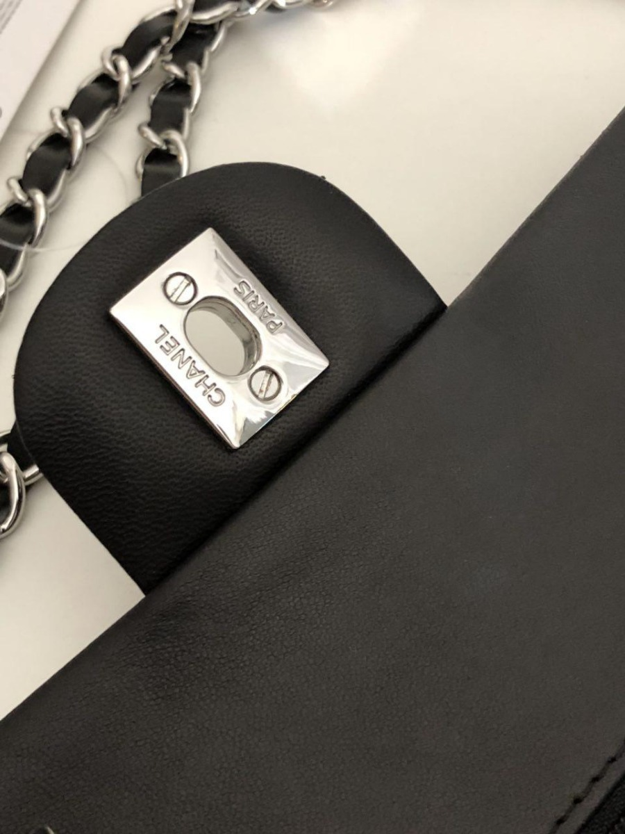 cbd11cf0a60c0 Bolsa Chanel 2.55 Preta Couro Lambskin Original Na Caixa - R  2.299 ...