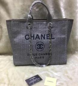 4f35f881b Bolsa Chanel Falsa - Bolsas Femininas Cinza escuro no Mercado Livre ...