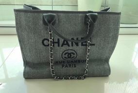 b88e713fa Bolsa Praia Chanel Original - Bolsas Chanel de Lona Femininas no ...