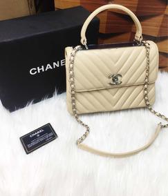 50c6458cc Bolsa Chanel 2.55 Bege Femininas - Bolsas no Mercado Livre Brasil