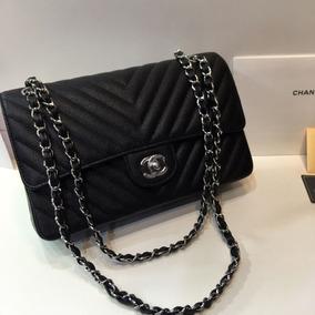 5f6f2ba54 Bolsa Classica Chanel Em Couro De Cordeiro Original - Bolsas de ...