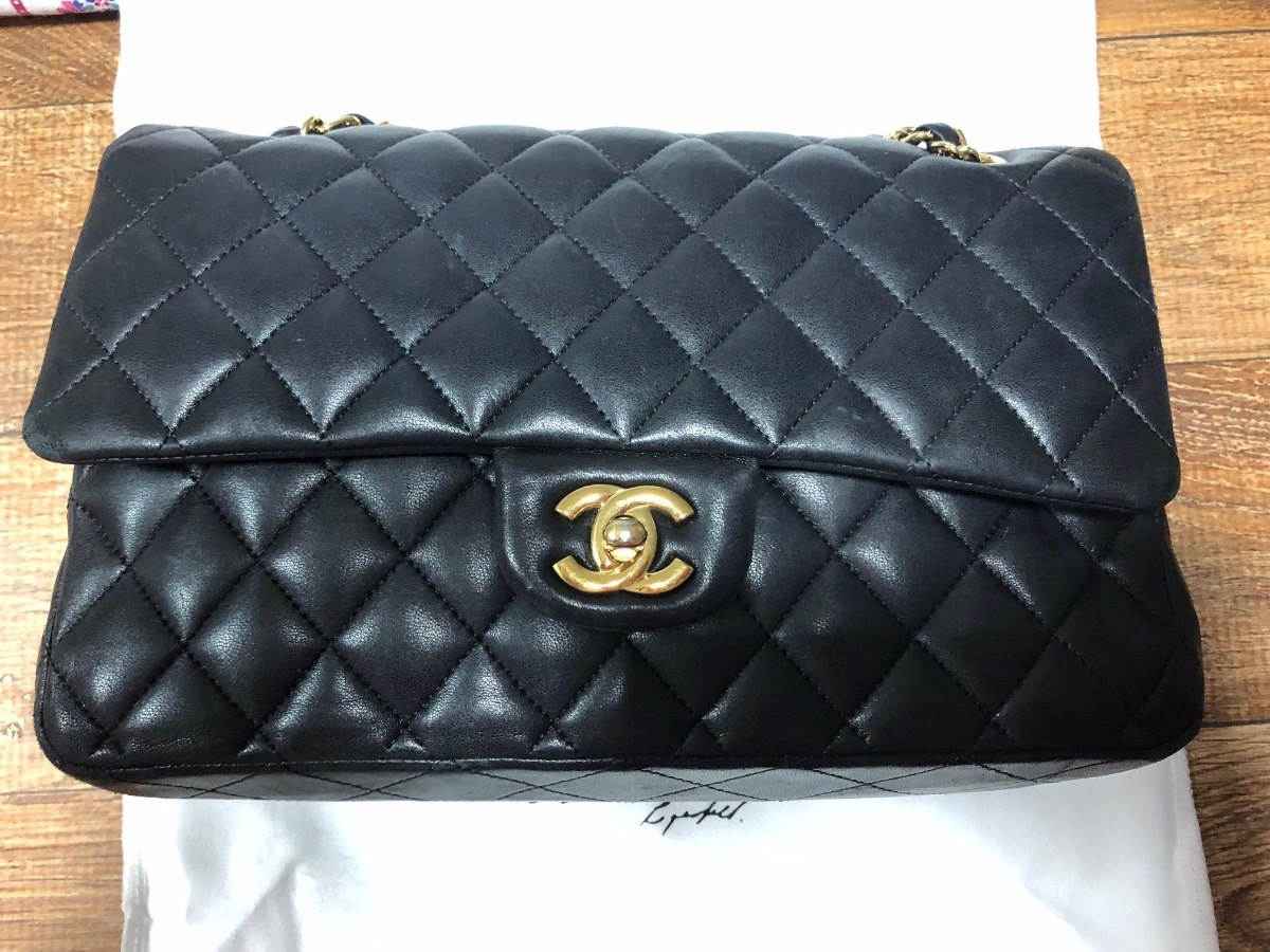 aa1f465ae Bolsa Chanel Classic Double Flap Preta - R$ 10.000,00 em Mercado Livre