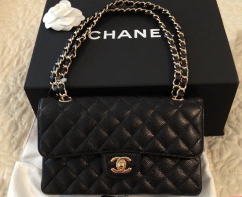 bbee5ef265c Bolsa Chanel Classic Flap Couro Caviar Original Autentica - R  20.020