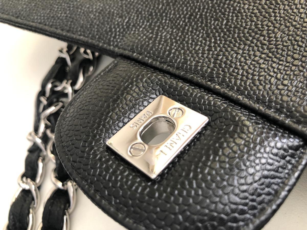 71aa83e90 bolsa chanel classic flap jumbo caviar- pronta entrega. Carregando zoom.