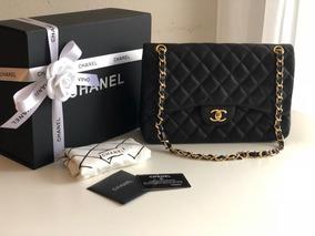 54c332a3f Bolsa Classica Chanel Em Couro De Cordeiro Original - Bolsa Outras ...