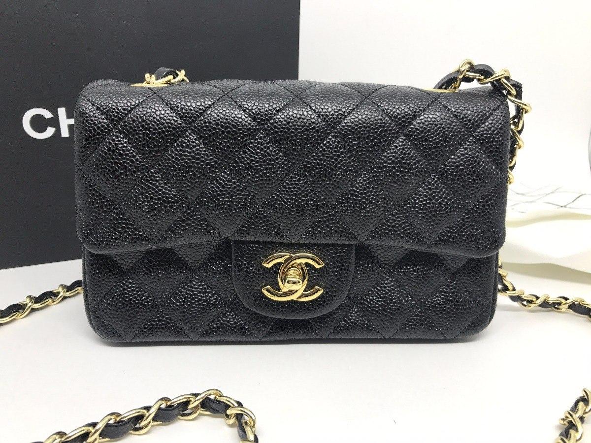 0bf0808223b Bolsa Chanel Classic Flap Mini Caviar Original - R  1.499
