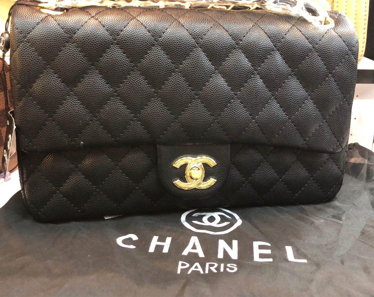 8fa3bea0f Bolsa Chanel Classic Flap Preta - R$ 2.199,00 em Mercado Livre