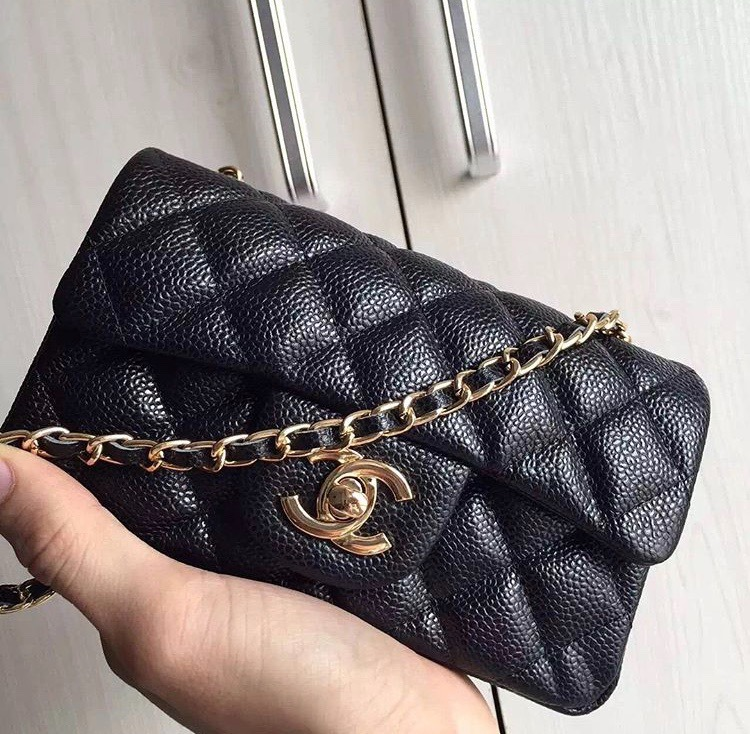 7dbfb58405f41 Bolsa Chanel Classic Mini Flap Retangular 100% Autentica - R  1.800 ...