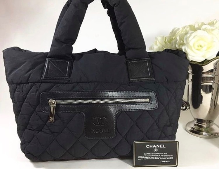 d54b38409eb Bolsa Chanel Coco Cocoon Nylon Preta - Importada - R  1.100