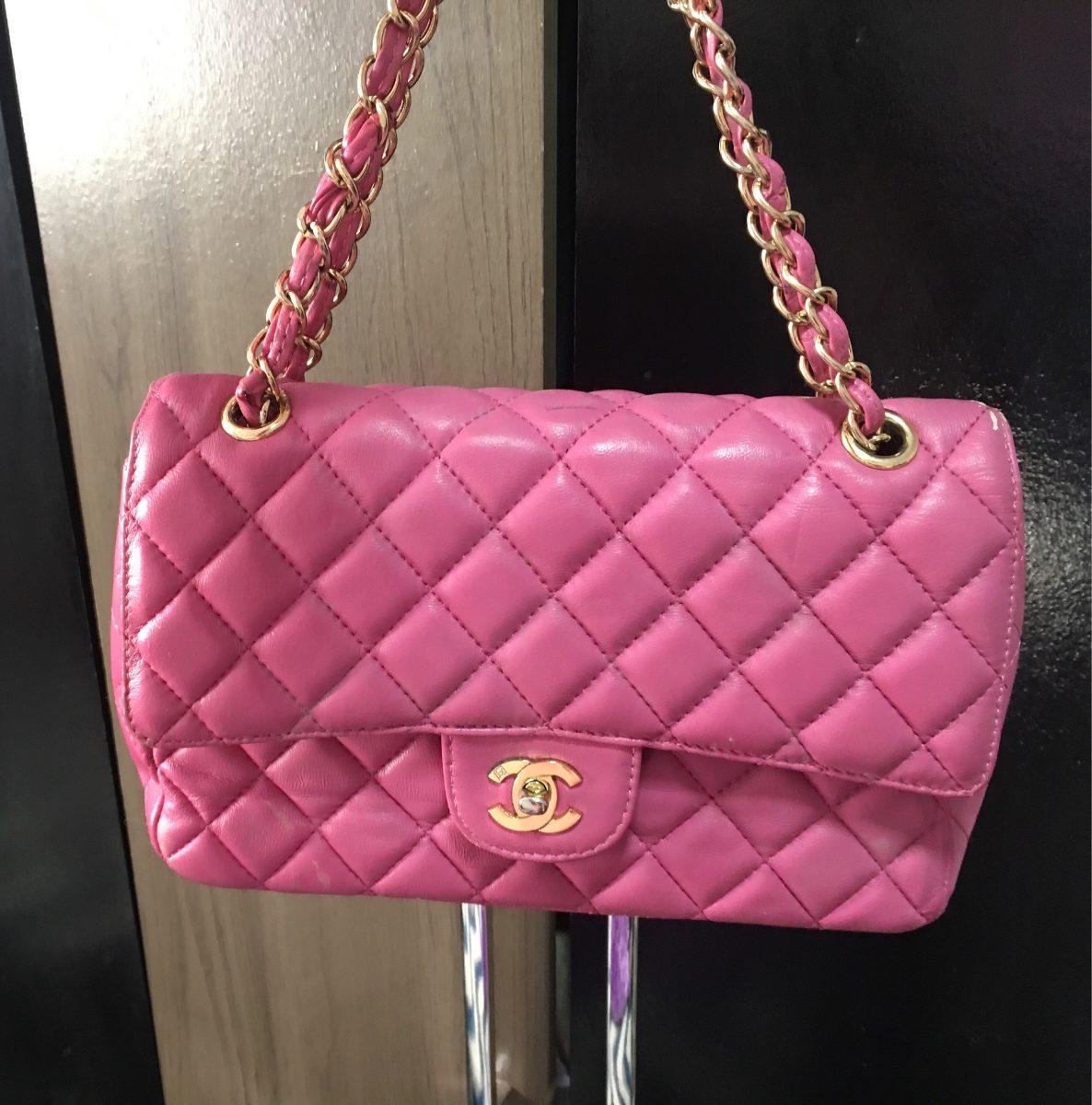 aaecc088e Bolsa Chanel Cor Rosa Usada - R$ 900,00 em Mercado Livre