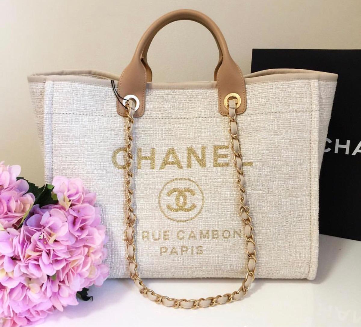6f014f30c12177 Bolsa Chanel Deauville Cambon Cor Nova 2018 - R$ 2.999,00 em Mercado ...