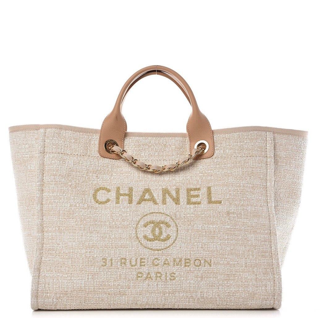 349eec0b854247 Bolsa Chanel Deauville Canvas Tote - Pronta Entrega - R$ 3.599,00 em ...