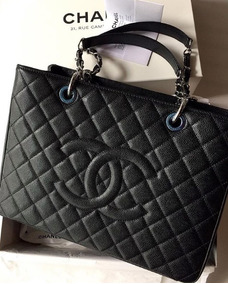 9b9d75030 Luxuosa E Autentica Bolsa Chanel Gst Couro Caviar, Creme - Bolsas ...