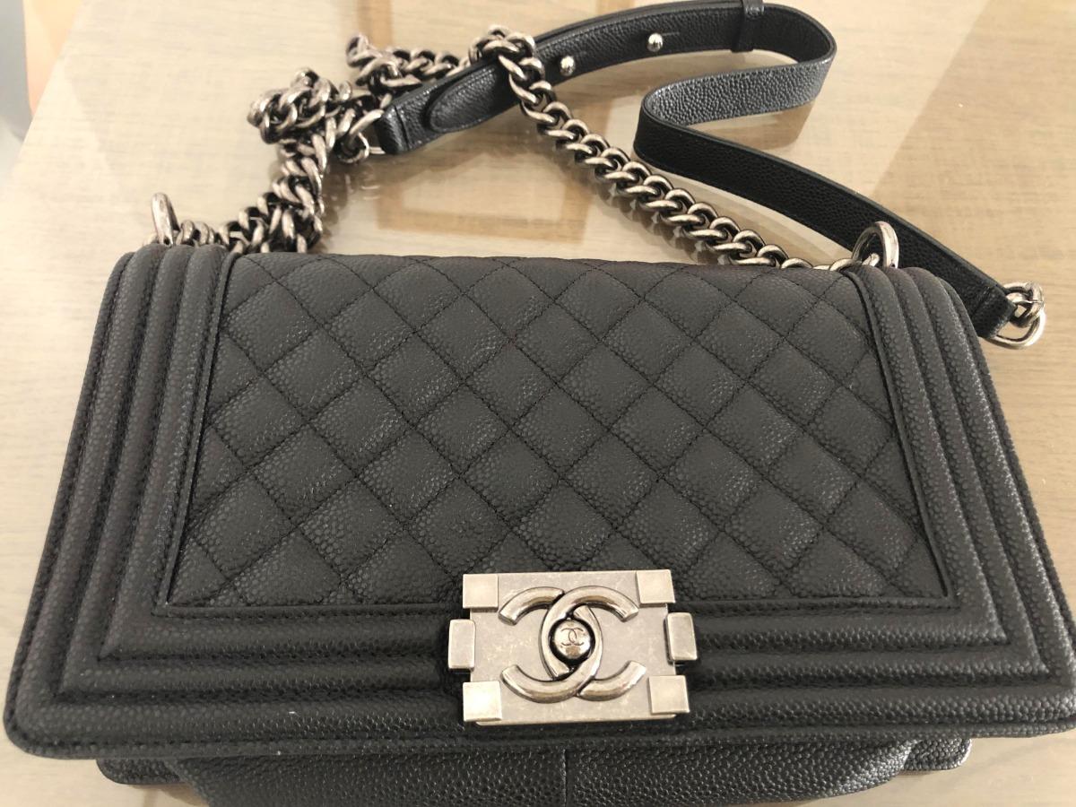 b6e44a52d Bolsa Chanel (inspired) - Em Couro, Com Cartão Autenticidade - R ...