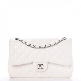 e82f3d7db Bolsa Pequena Chanel Falsa - Bolsas de Couro Branco no Mercado Livre ...