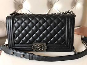 19e29fd8e Bolsa Transversal Pequena Chanel - Bolsas de Couro Preto no Mercado ...