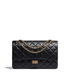 8743de003 Chanel 2.55 Reissue Cor Preta Com Alças Douradas - Bolsas de Couro ...